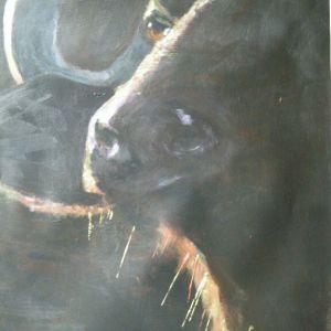 Impala's, Acryl op papier ca. 40 x 50 cm