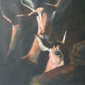 Lepelaar,  Acryl op papier ca. 40 x 50 cm