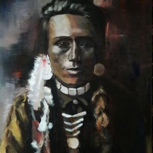 Vrouwenportret (opdracht), Acryl op doek 40 x 50 cm