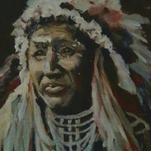 Jongensportret 1, Acryl op doek 40 x 50 cm