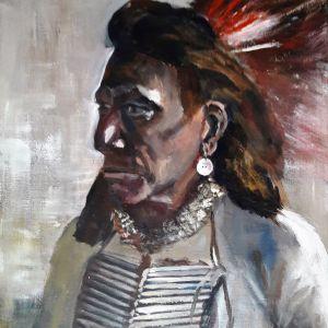 Jongensportret 2, Acryl op doek 40 x 50 cm